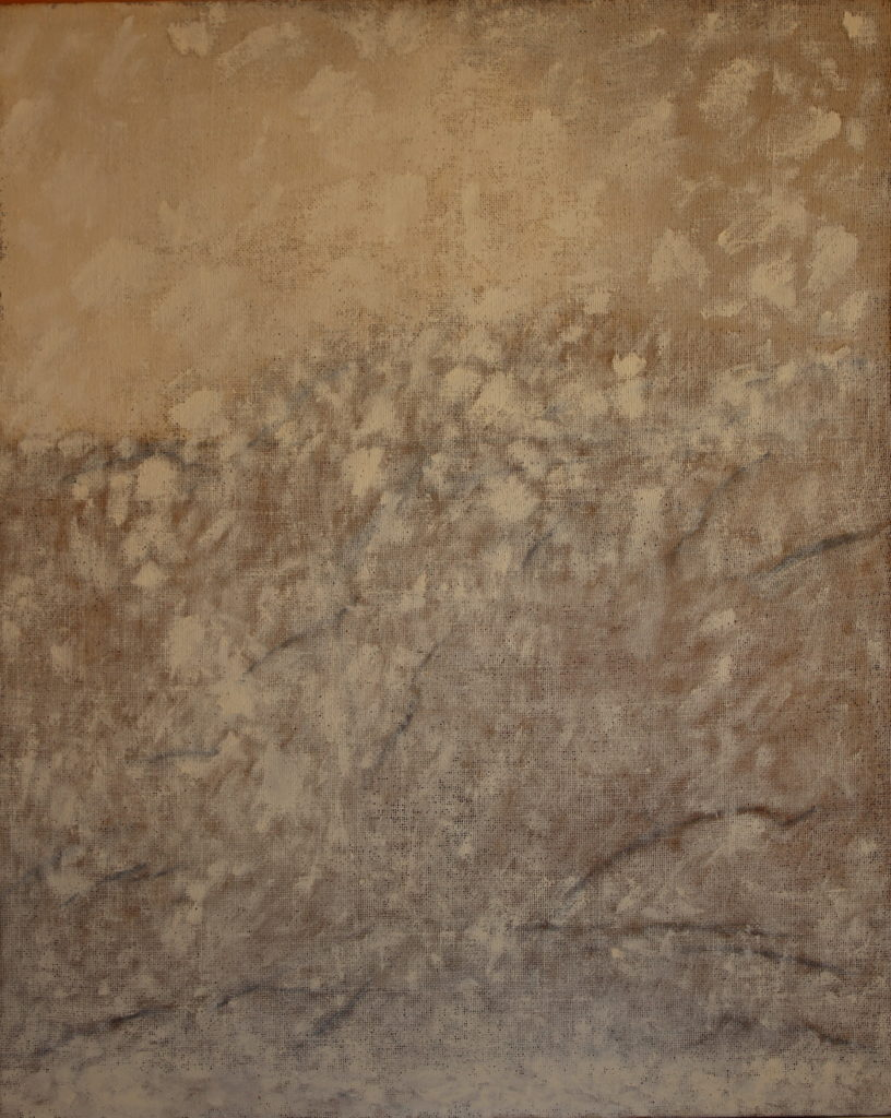 Neige, Oil on canvas, 100x81cm, 2014