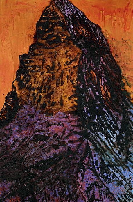 Emersion de l'Océan Téthys, Mixed technique on linen, 294x196cm, 2016, 50'000.- CHF