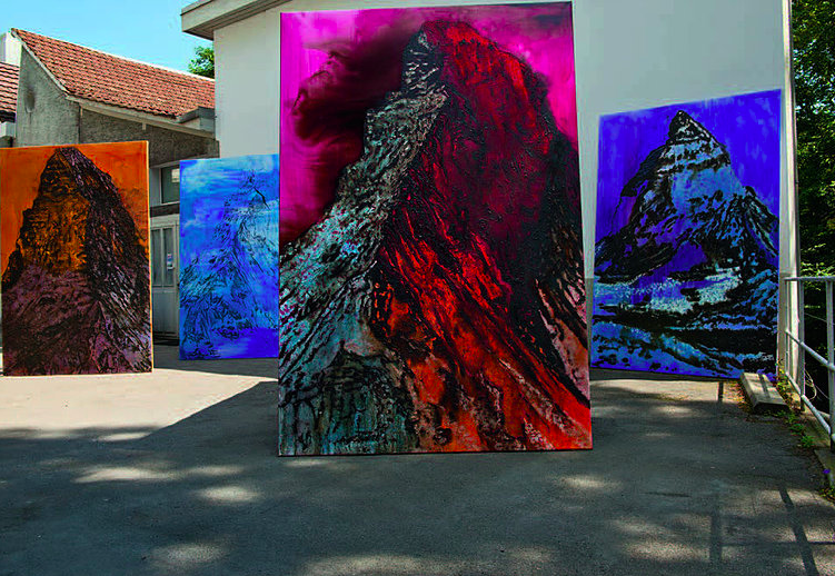 4 Matterhorn, at the artist's studio in Nyon, 2016, 294x196cm, 50'000.- CHF