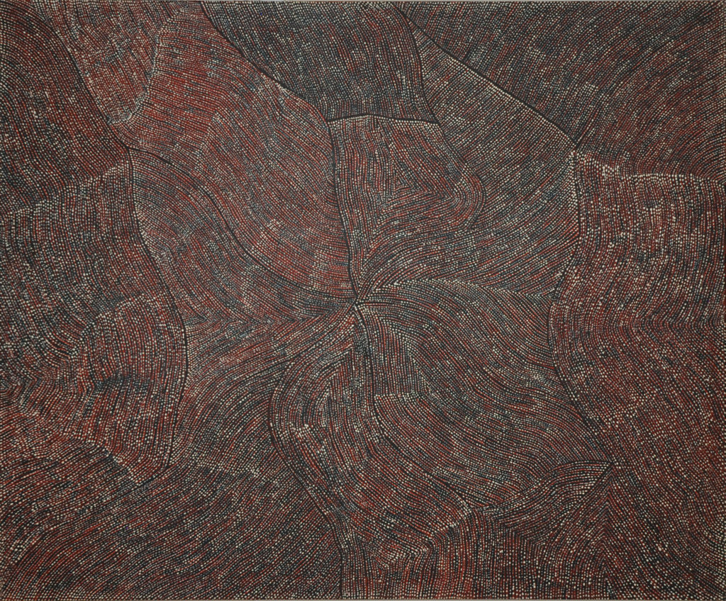 Richard Yukenbarri TJAKAMARRA (c.1960- ), Untitled, Acrylic on canvas, 183x153cm, 2007, Price on request.