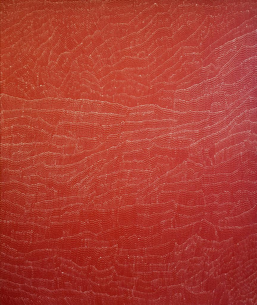 Lilly Kelly NAPANGARDI ( c.1948- ), Tali Sandhills, Acrylic on canvas, 180x150 cm, Price on request.