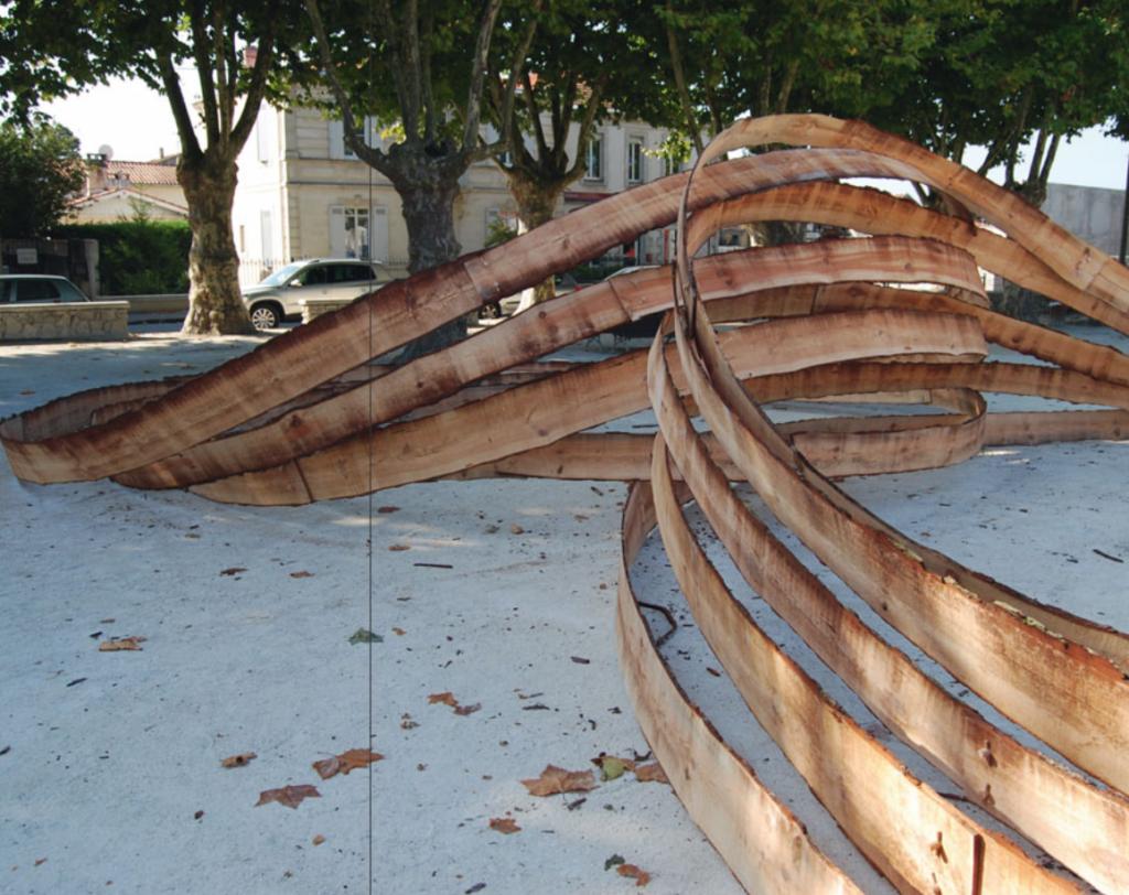 Epicentre, Sculpture, Landes Pine, 28x11x2,5cm, 2009, La Teste de Buch, FR
