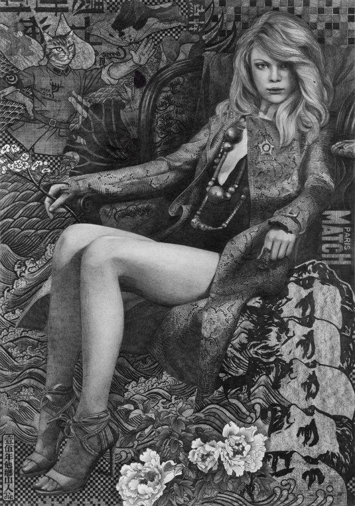 Qiu Jie, Pencil on paper, 100x70cm, 14'000.- CHF