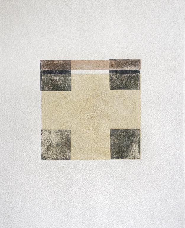 Fanny Gagliardini, gravure sable 5, 77x58,5 cm, papier à la cuve, 2000.- CHF