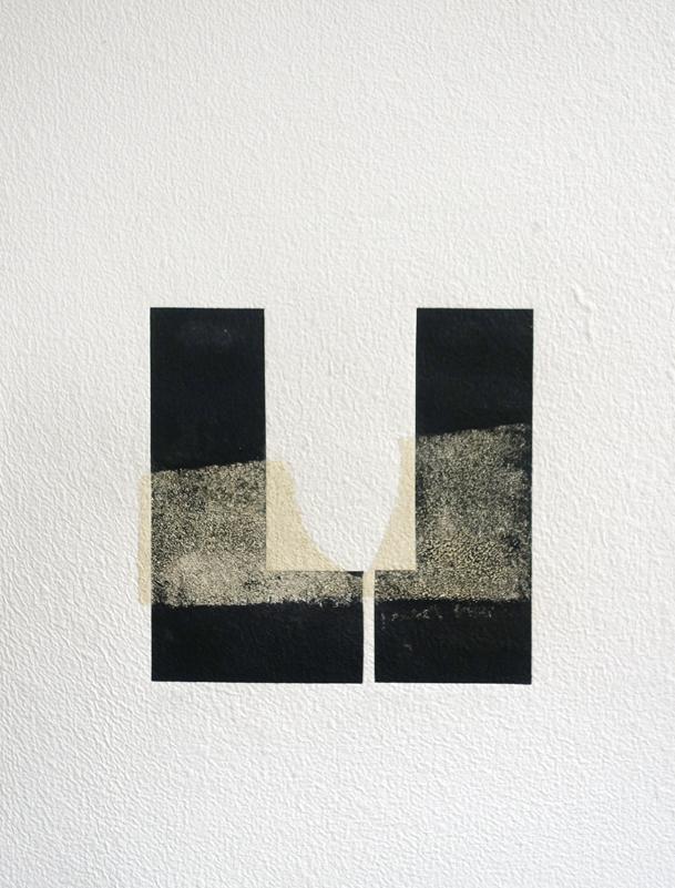 Fanny Gagliardini, gravure sable 3, 77x58,5 cm, papier à la cuve, 2000.- CHF