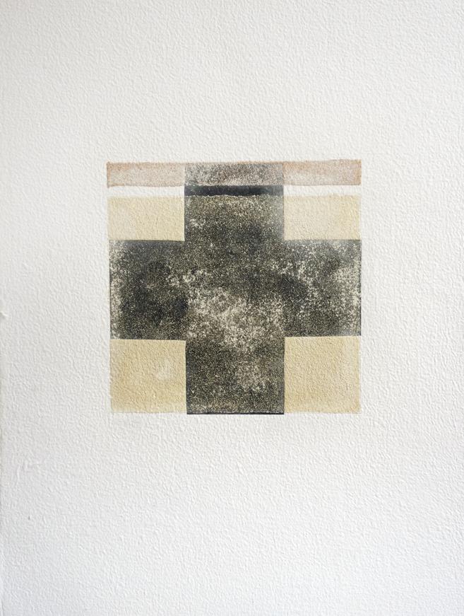 Fanny Gagliardini, gravure 2 sable 1, 77x58,5 cm, papier à la cuve, 2000.- CHF
