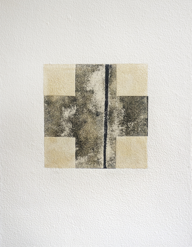 Fanny Gagliardini, gravure sable 1, 77x58,5 cm, papier à la cuve, 2000.- CHF